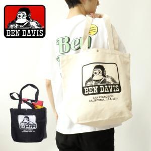 トートバッグ ロゴ プリント カジュアル 通勤 通学 BEN DAVIS ベンデイビス TOTE BAG ユニセックス ギフト プレゼント g-field