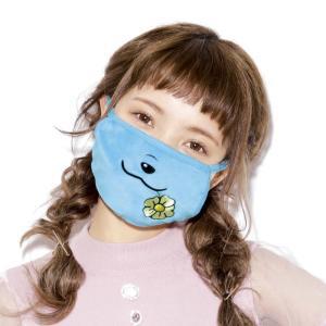 かわいい お洒落 マスク ブルー キャラクター ゴノタン ユニココラボ ますく 花粉症 風邪対策 予...