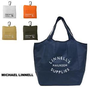 マイケルリンネル エコバッグ ECO トートバッグ  MICHAEL LINNELL Shopping Bag (L) 携帯 コンパクト 小型 ギフト プレゼント カラビナ付き g-field