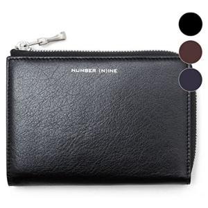 NUMBER (N) INE(ナンバーナイン) カーフレザーハーフラウンドジップウォレット/二つ折り財布 サイフ nsw-601 g-field