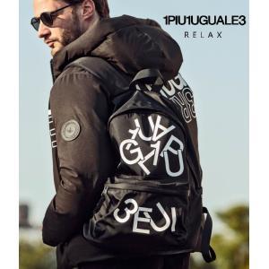 2021年A/W 新作 バックパック 鞄 ユニセックス 通勤 通学 旅行 トラベル ウノピゥウノウグァーレトレ ランダムロゴリュック 1PIU1UGUALE3 RELAX g-field