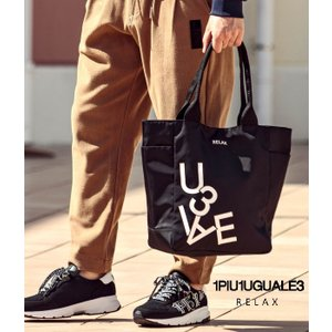 2021年A/W 新作 ランダムロゴトートバッグ 1PIU1UGUALE3 RELAX 鞄 BAG ナイロン ユニセックス 通勤 通学 旅行 トラベル ギフト ウノピゥウノウグァーレトレ g-field