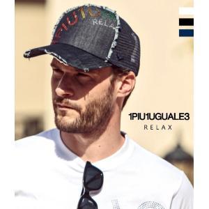先行予約 ラインストーンロゴキャップ 帽子 ユニセックス カジュアル スポーツ カラフル レインボー 1PIU1UGUALE3 RELAX ウノピゥウノウグァーレトレ g-field