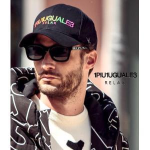 先行予約 レインボーロゴ刺繍キャップ 帽子 ユニセックス カジュアル シックスパネル カラフル 1PIU1UGUALE3 RELAX ウノピゥウノウグァーレトレ g-field