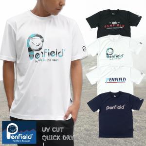 【Penfield】アクセントドライ Tシャツ 半袖 UVカット 吸汗速乾 スポーツ フィットネス ジム トレーニング|g-fine