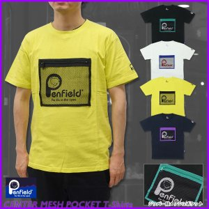 【Penfield(ペンフィールド)】センター メッシュポケット Tシャツ 半袖 メンズ アウトドア ストリート 男性用|g-fine