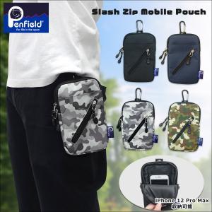ペンフィールド Penfield スマホポーチ シザーケース メンズ レディース スマホ収納 スラッシュ ジップ モバイル ポーチ ベルトポーチ 携帯バッグ|g-fine