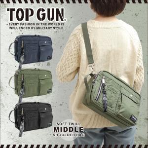TOP GUN(トップガン)ソフトツイル ミドルショルダーバッグ 斜め掛け ボディバッグ 鞄 メンズ レディース ユニセックス|g-fine