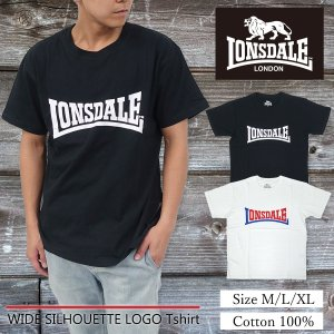LONSDALE(ロンズデール)ワイドシルエット ロゴ Tシャツ メンズ 半袖 ゆったりめ オーバーサイズ g-fine