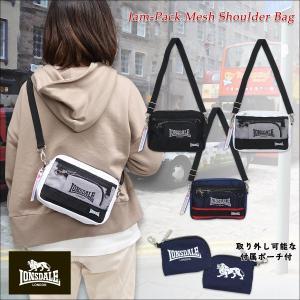 LONSDALE(ロンズデール)ジャムパック メッシュ ミニショルダーバッグ 斜め掛け ポーチ付 鞄 メンズ レディース ユニセックス|g-fine