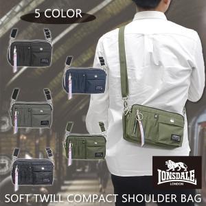 ロンズデール LONSDALE バック ショルダー バッグ メンズ レディース ソフトツイル コンパクトショルダーバッグ 斜め掛け 肩掛け 小型 鞄|g-fine