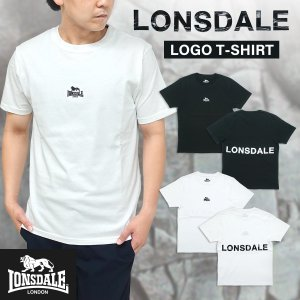 LONSDALE(ロンズデール)ロゴプリント Tシャツ メンズ 半袖 ベーシック シンプル 刺繍 g-fine