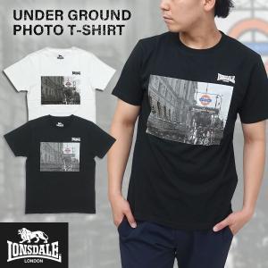 LONSDALE(ロンズデール)アンダーグラウンド フォト Tシャツ メンズ 半袖 ベーシック シンプル g-fine