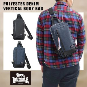 LONSDALE(ロンズデール)ポリデニム 縦型 ボディバッグ 肩掛け ワンショルダー メンズ レディース ユニセックス |g-fine