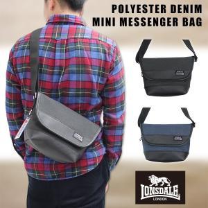 LONSDALE(ロンズデール)ポリデニム ミニメッセンジャーバッグ 肩掛け 斜め掛け 鞄 小型 メンズ レディース ユニセックス |g-fine