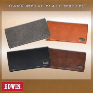 EDWIN(エドウイン)ダークメタルプレート 長財布 g-fine
