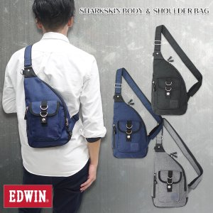 EDWIN(エドウイン)シャークスキン ボディショルダーバッグ 肩掛け 斜め掛け 鞄 g-fine