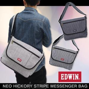EDWIN(エドウイン)ネオヒッコリー ストライプ メッセンジャーバッグ 斜め掛け 肩掛け 鞄 ショルダーバッグ g-fine