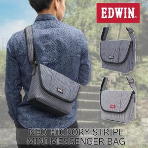 EDWIN(エドウイン)ネオヒッコリー ストライプ ミニメッセンジャーバッグ 斜め掛け 肩掛け 鞄 ショルダーバッグ g-fine