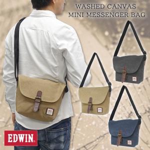 EDWIN(エドウイン)ウォッシュキャンバス ミニメッセンジャーバッグ コンパクト 斜め掛け 肩掛け 鞄 ショルダーバッグ  帆布 g-fine