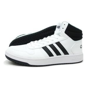 アディダス adidas スニーカー メンズ 運動靴 アディフープス 2.0 ミッド ADIHOOPS 2.0 MID FY8617 ホワイト/ブラック  ミッドカット バッシュ|g-fine