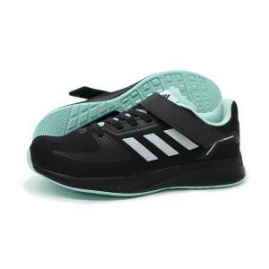 アディダス adidas スニーカー キッズ 子供靴 黒 コア ファイト EL K GW3299 カーボン ブラック CORE FAITO EL K 通学 小学生 セール プレゼント|g-fine