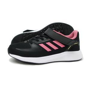 アディダス adidas スニーカー キッズ 子供靴 黒 コア ファイト EL K GW3302 コアブラック/ローズトーン CORE FAITO EL K 通学 小学生 セール プレゼント|g-fine