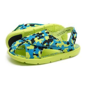 【KID'S】PUMA(プーマ サンダル)Summer Sandal 2 Camo PS(サマー サンダル 2 カモ PS)(365088-02/ハワイアンオーシャン)キッズ 子供靴 水遊び 子供用サンダル|g-fine