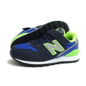 【KID'S】new balance(キッズ ニューバランス)YV996 DN(ブルー/ライム)軽量 子供靴 ジュニア 靴 通気性 プレゼント ギフト 運動会 遠足|g-fine