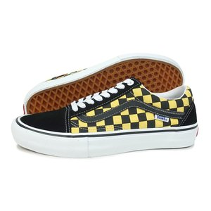 VANS(バンズ)Old Skool Pro)(Checker)(オールド スクール プロ チェッカー)(VN0A45JCVG2)(ブラック/アスペンゴールド) スニーカー 靴 黒 黄 メンズ レディース|g-fine