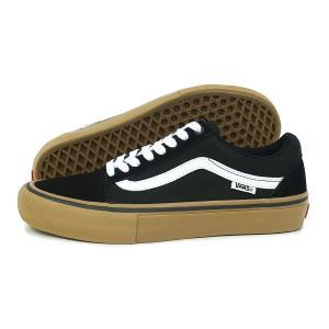 VANS(バンズ)Old Skool Pro(オールド スクール プロ)(VN000ZD4BW9)(ブラック/ホワイト/ミディアムガム) スニーカー 靴 黒 メンズ レディース|g-fine