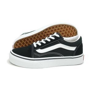 【KID'S(キッズ)】VANS(バンズ)Old Skool(オールド スクール)(VN000W9T6BT)(ブラック/ホワイト) スニーカー 子供靴 黒 海外企画 通学 小学生 プレゼント|g-fine