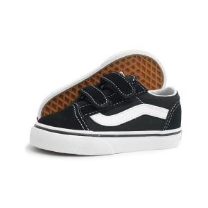 【BABY(ベビー)】VANS(バンズ)OLD SKOOL V TD(オールド スクール V TD)(VN000D3YBLK)(ブラック/ホワイト) スニーカー 子供靴 黒 海外企画 ベルクロ|g-fine