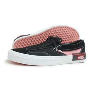 VANS(バンズ)SLIP-ON CAP(スリッポン カット&ペースト)(VN0A3WM5BEM)(ブラック/ピンク) スニーカー 黒 定番 靴 メンズ レディース 海外企画|g-fine