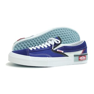 VANS(バンズ)SLIP-ON CAP(スリッポン カット&ペースト)(VN0A3WM5XHR)(ブループリント) スニーカー 青 定番 靴 メンズ レディース 海外企画|g-fine