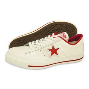 CONVERSE(コンバース)ONE STAR J(ワンスター J)(ホワイト/レッド)|g-fine