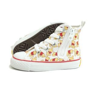 【KID'S】(キッズ)CONVERSE(コンバース)CHILD ALL STAR N POOH PT Z HI(チャイルド オールスター N プー PT Z HI)(ホワイト) 子供靴 プレゼント くまのプーさん|g-fine