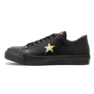 CONVERSE(コンバース)ONE STAR J(ワンスター J)(ブラック/ゴールド) スニーカー 日本製 国産 メンズ レディース ローカット 黒|g-fine