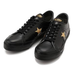 CONVERSE(コンバース)ONE STAR J(ワンスター J)(ブラック/ゴールド) スニーカー 日本製 国産 メンズ レディース ローカット 黒|g-fine|02