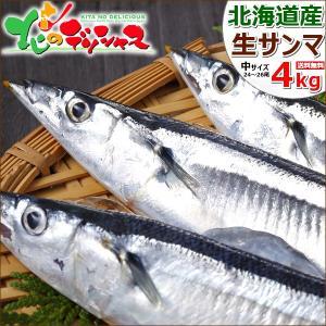 【予約】 生サンマ 4kg(中サイズ/25尾〜27尾入り/冷...