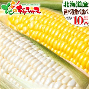 【予約】 とうもろこし 食べ比べ 選べる10本セット 北海道...