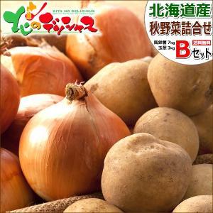 【出荷中】北海道産 越冬 野菜セットB 10kg(メークイン 7kg・玉ねぎ 3kg) 馬鈴薯 玉葱...