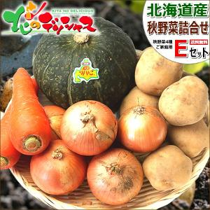 【予約】北海道産 野菜セットE (男爵いも1kg/玉ねぎ500g/にんじん2本/大浜みやこ1玉) 野...