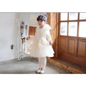 大きな リボン付 ワンピース 女の子 ドレス フォーマル 子供服 子供ドレス 100 110 120...