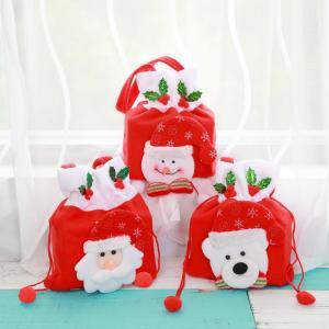 クリスマス ラッピング バッグ 手提げ サンタ 雪だるま シロクマ ギフト 包装 プレゼント X19...