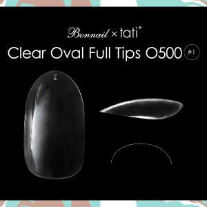 Bonnail×tati クリアオーバルフルチップO500 #01 50P【ネコポス対応】 ネイル用品の専門店 プロ用にも|g-nail