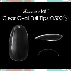Bonnail×tati クリアオーバルフルチップO500 #02 50P【ネコポス対応】 ネイル用品の専門店 プロ用にも|g-nail