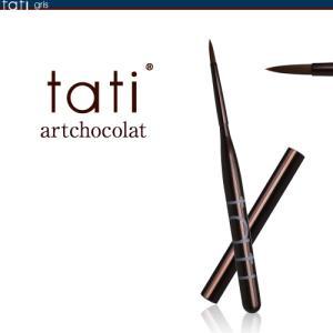 tati アートショコラ ブラシ グリ アート筆2 キャップ付き 【ネコポス対応】 ネイル用品の専門店 プロ用にも g-nail