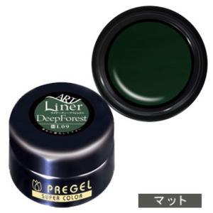 PREGEL プリジェル カラーEx ジェルネイル カラージェル 4g L09 ライナーディープフォレスト 【ネコポス対応】|g-nail