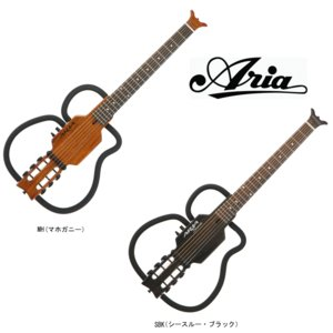 ARIA Sinsonido AS-101S MH(Mahogany) / SBK(See-through Black) アリア サイレントギター シンソニード マホガニー / シースルー・ブラック|g-sakai